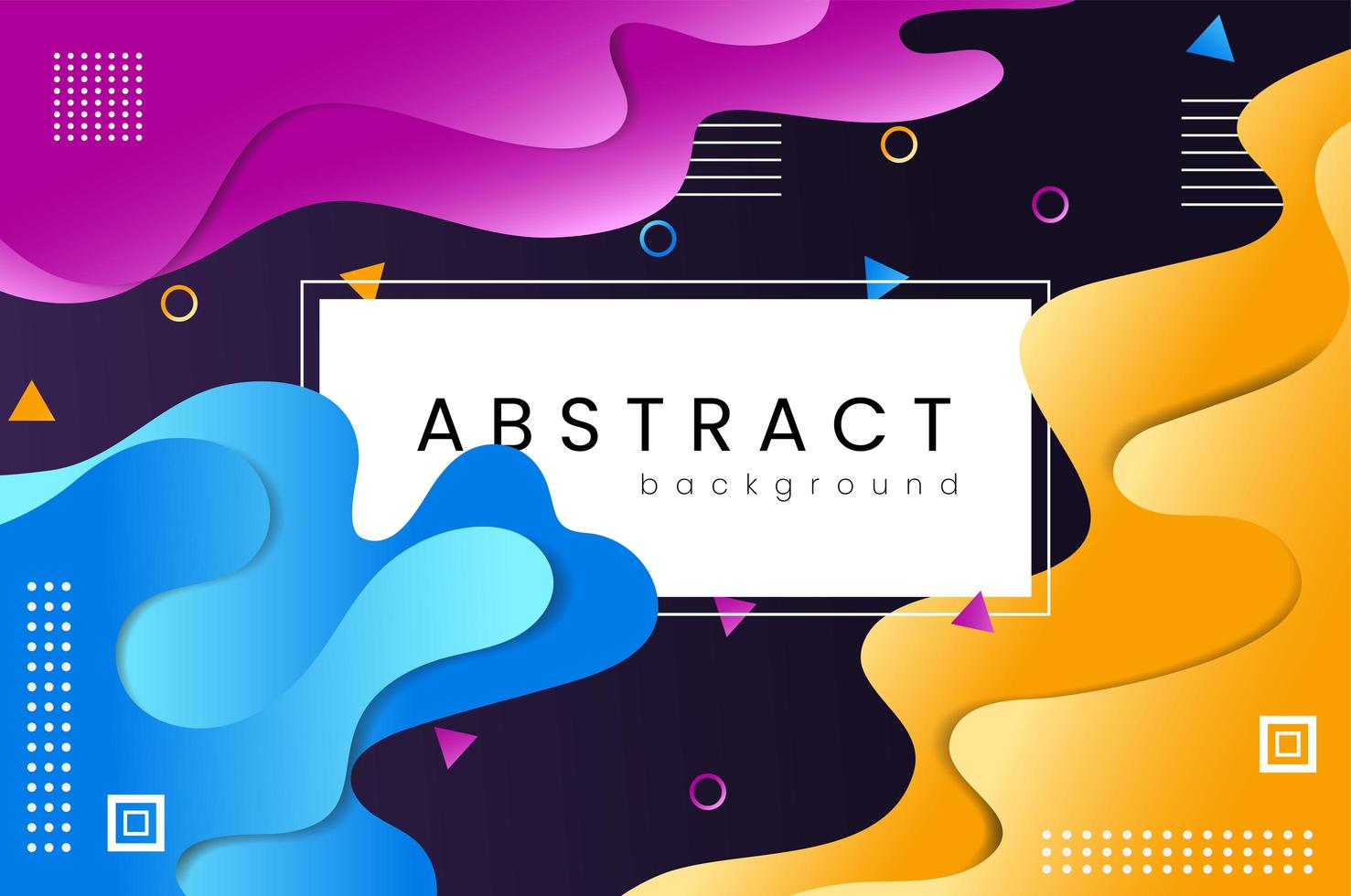 fondo abstracto fluido degradado colorido vector