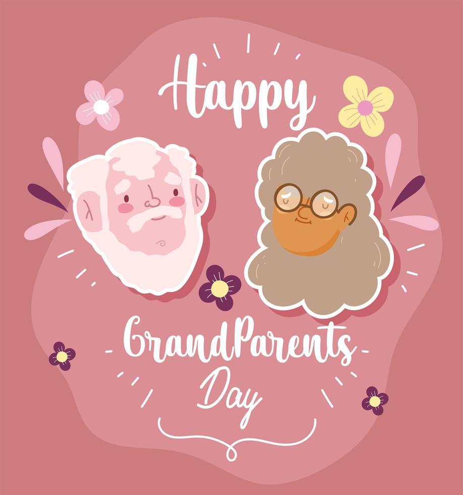 gelukkige grootouders dag, schattige oma vector
