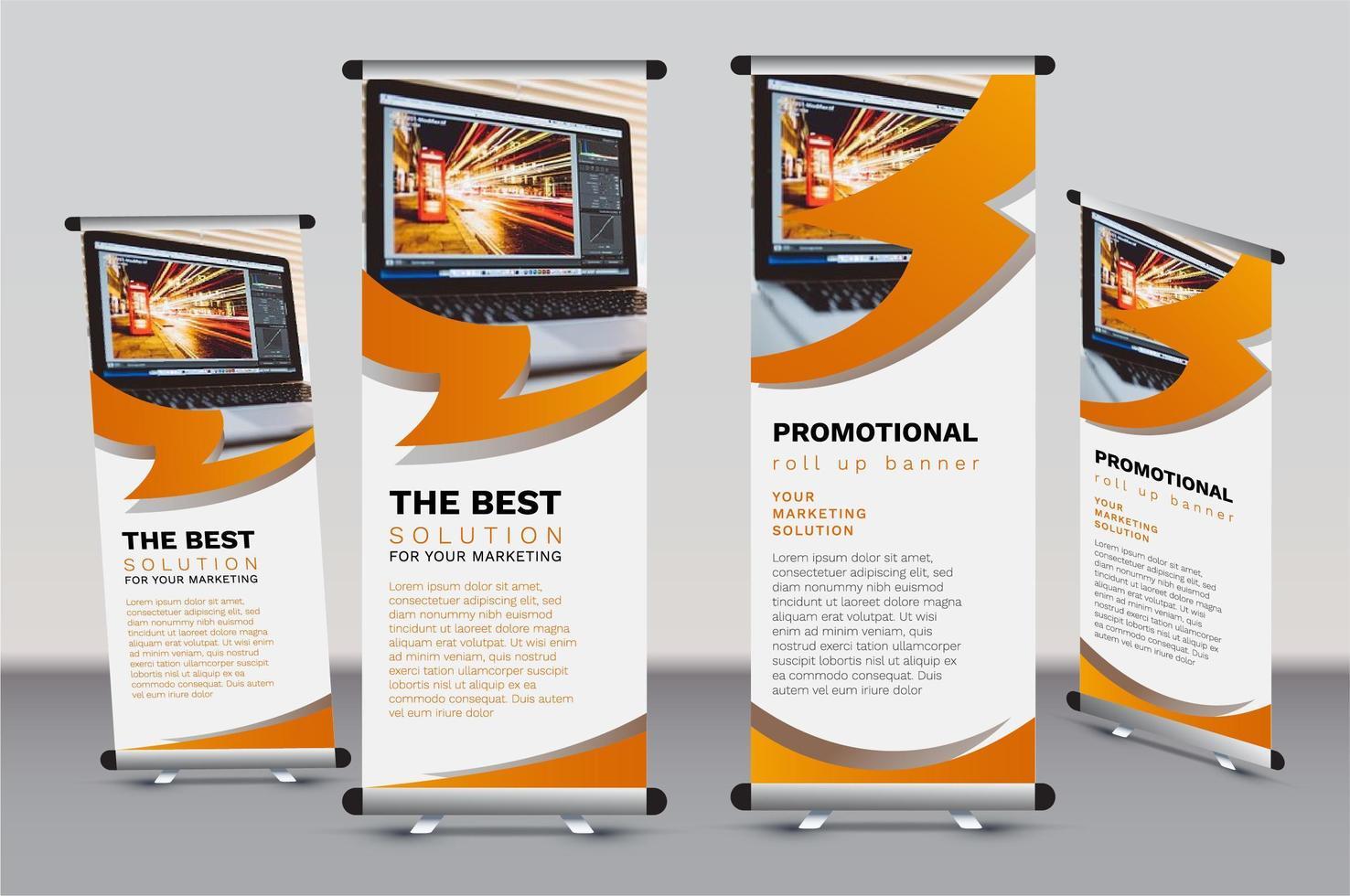 zakelijke roll-up banner sjabloon set vector