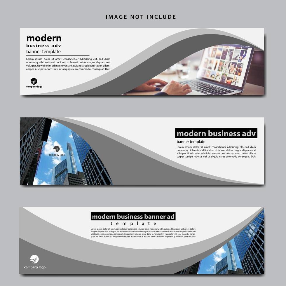 modèle de bannière Web pour les entreprises vecteur