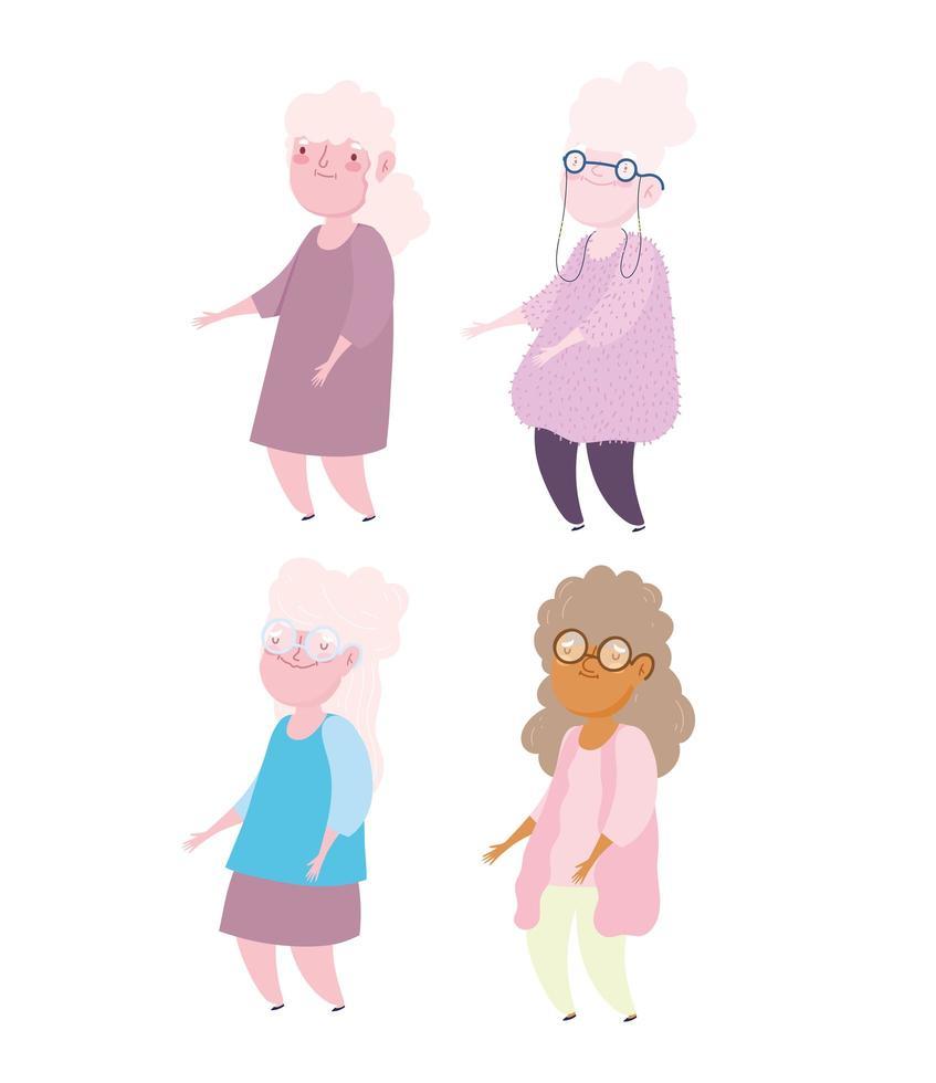 grootmoeders van oudere vrouwen vector
