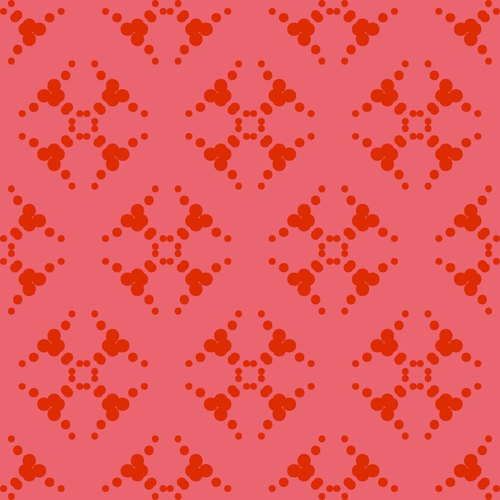 uniek stijl rood sierpatroon vector