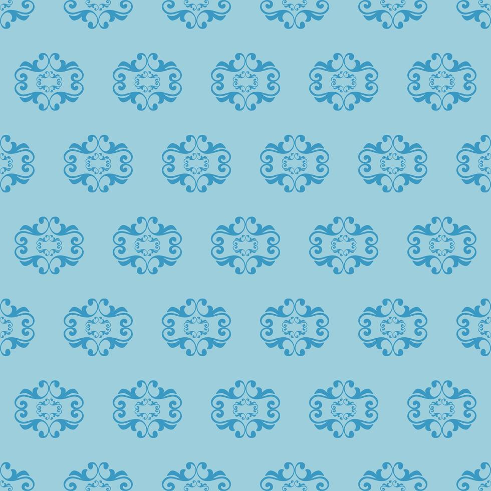 motif ornemental bleu de style unique vecteur