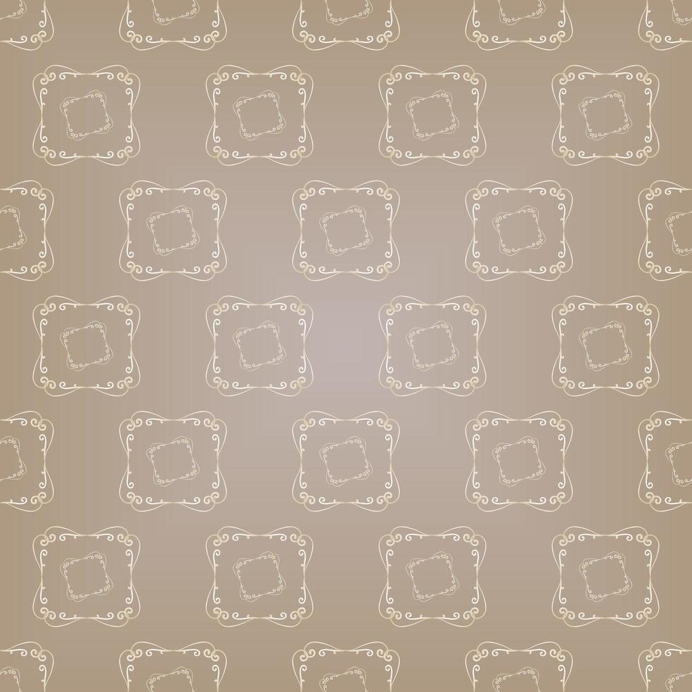 patrón ornamental degradado marrón de estilo único vector