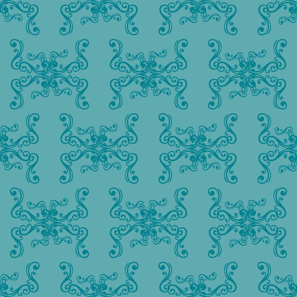 einzigartiges blaues Ziermuster des Stils vektor