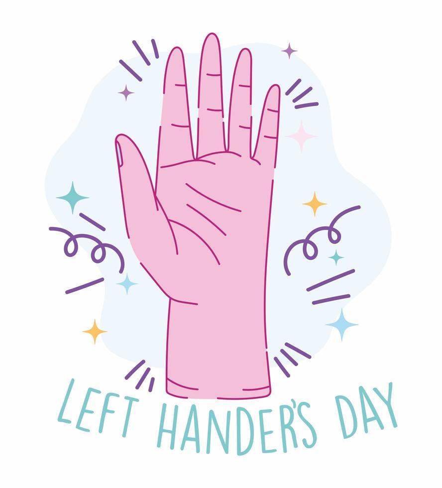 linkshandigen dag, open hand cartoon vector