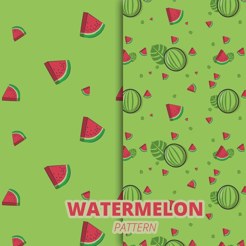 conjunto padrão de melancia vetor