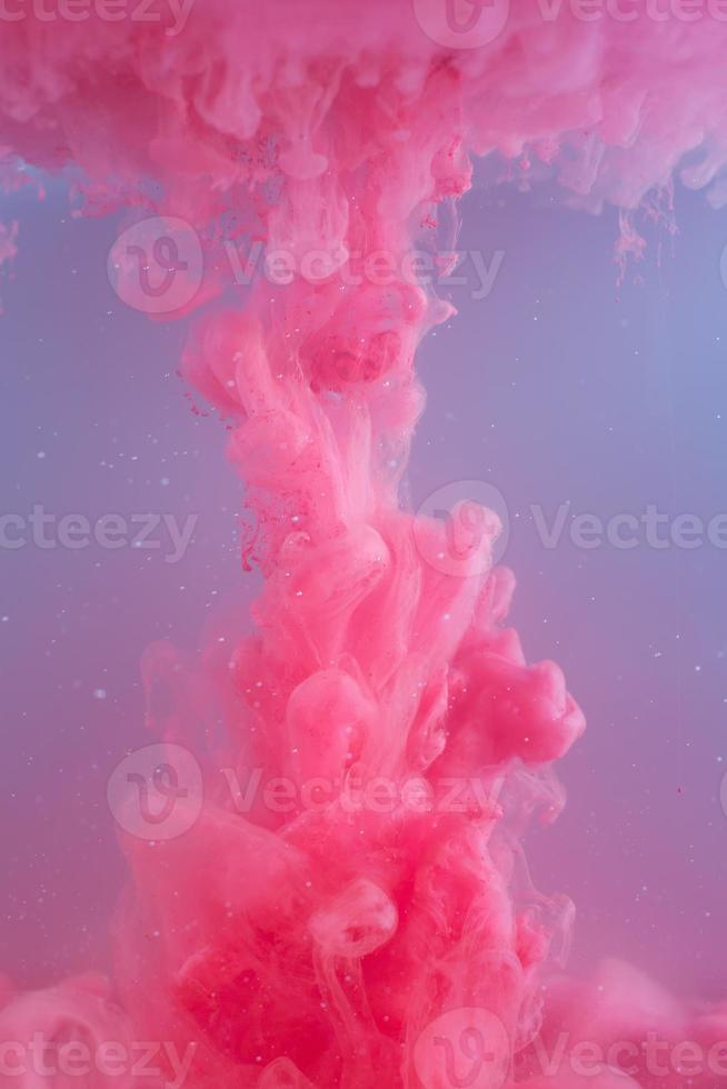 Ink swirling in water. Abstract banner paints. photo