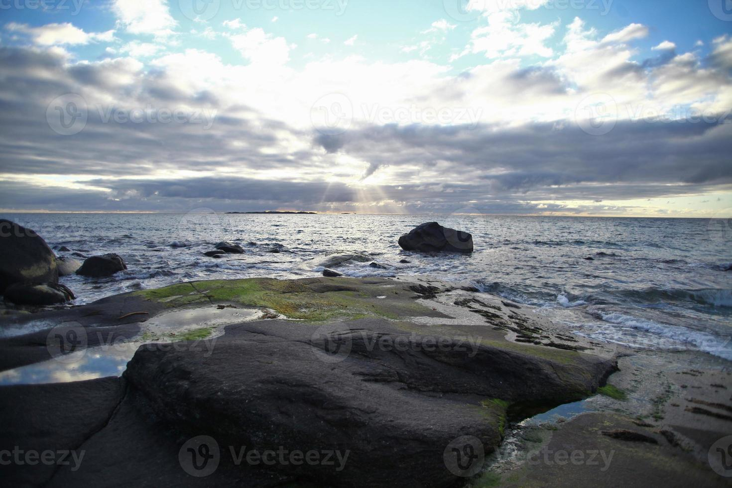 Stony beach photo
