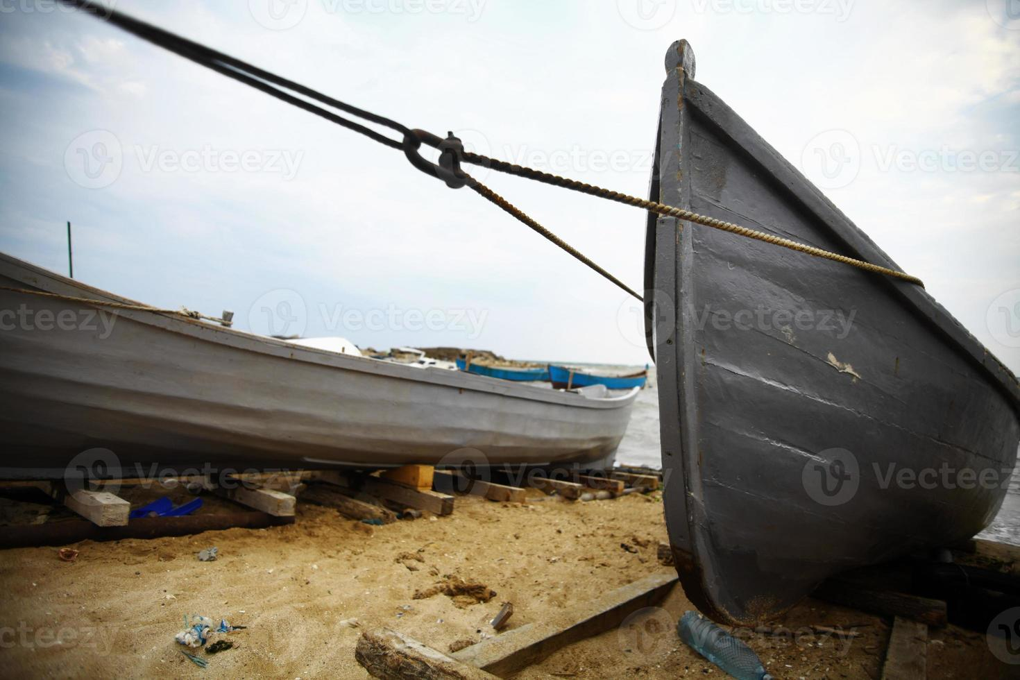 Boats by the sea photo