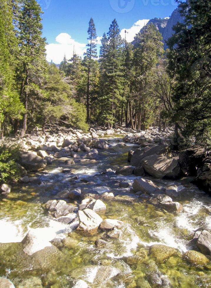 Merced river in Yosemite National Park photo