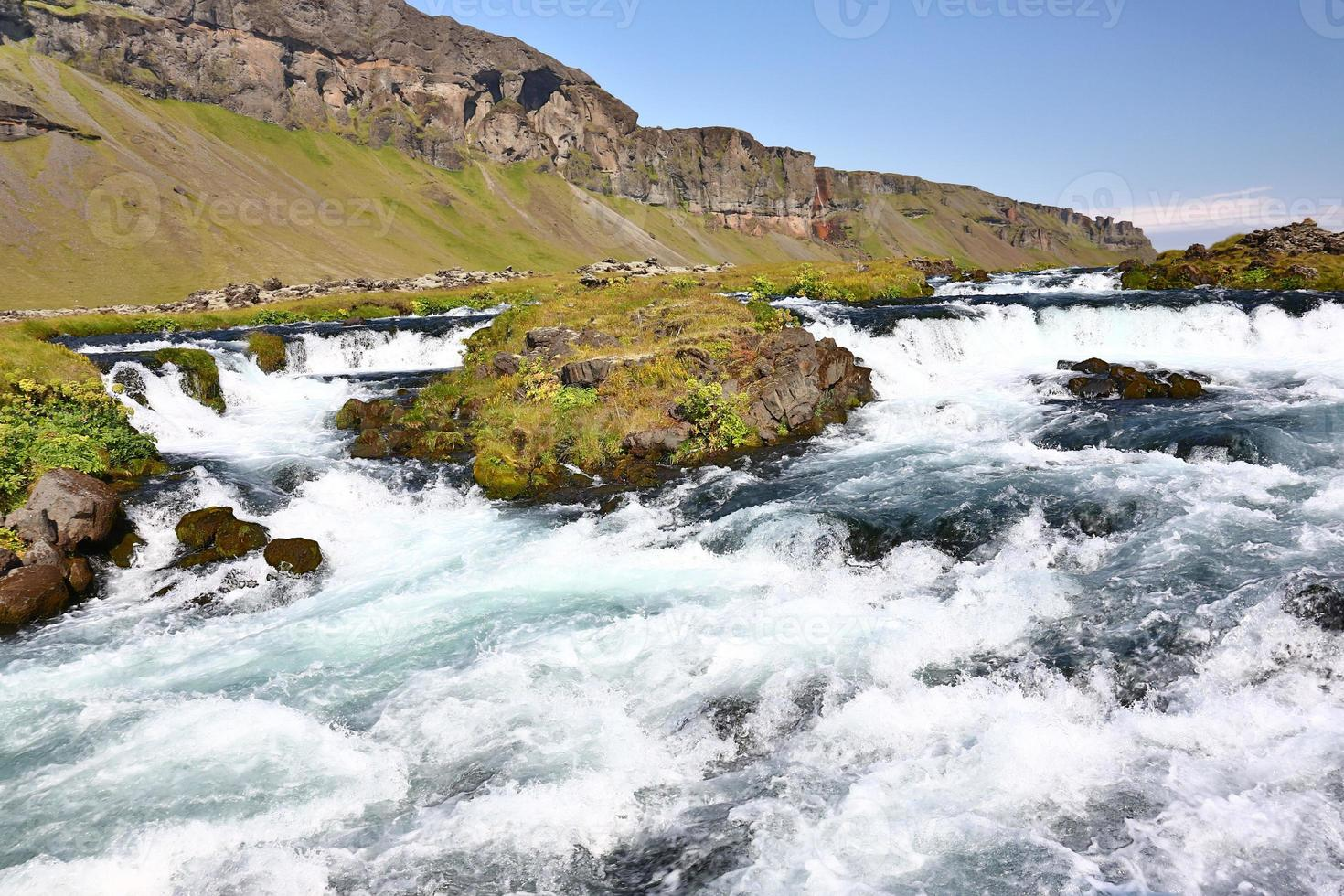 rapids of a river in iceland photo
