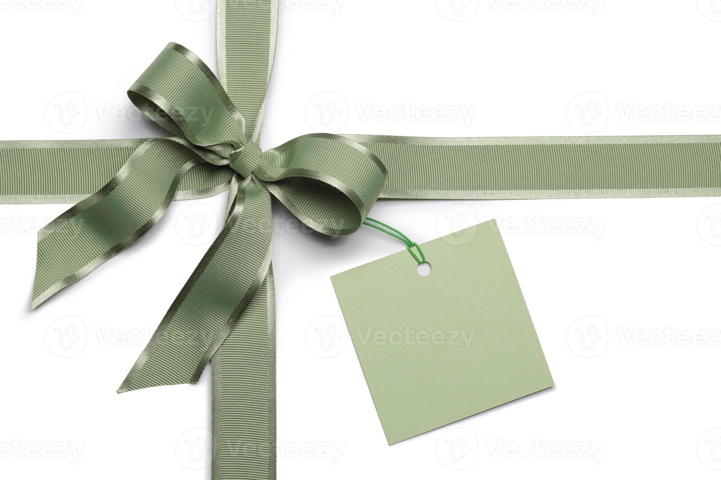 note card with ribbon bow photo