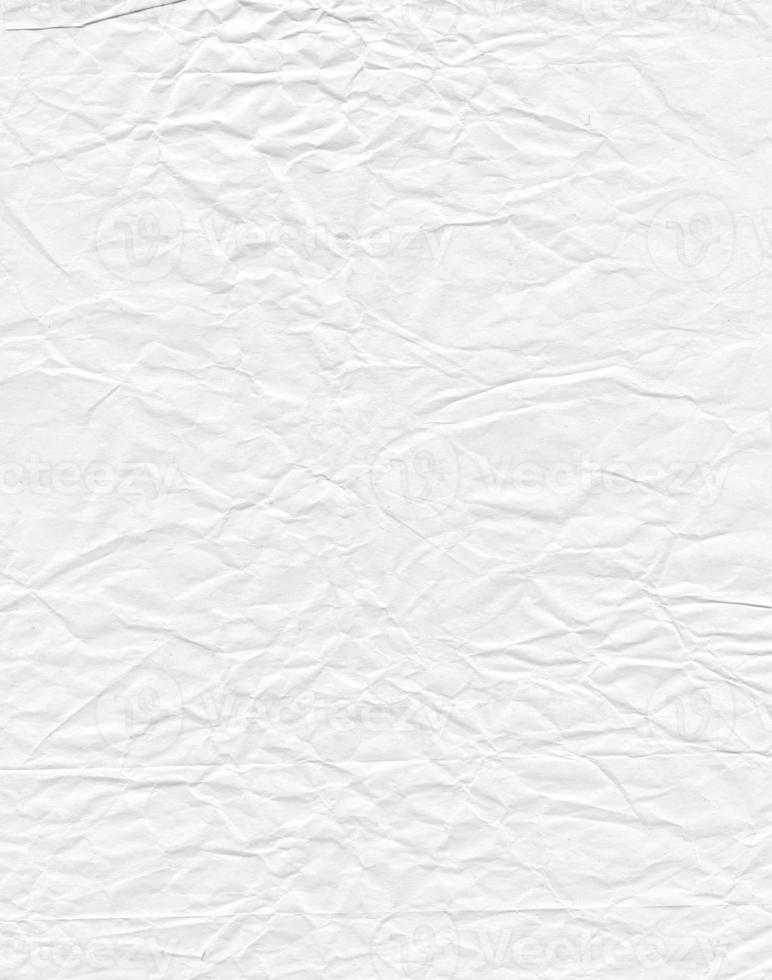textura de papel blanco arrugado foto