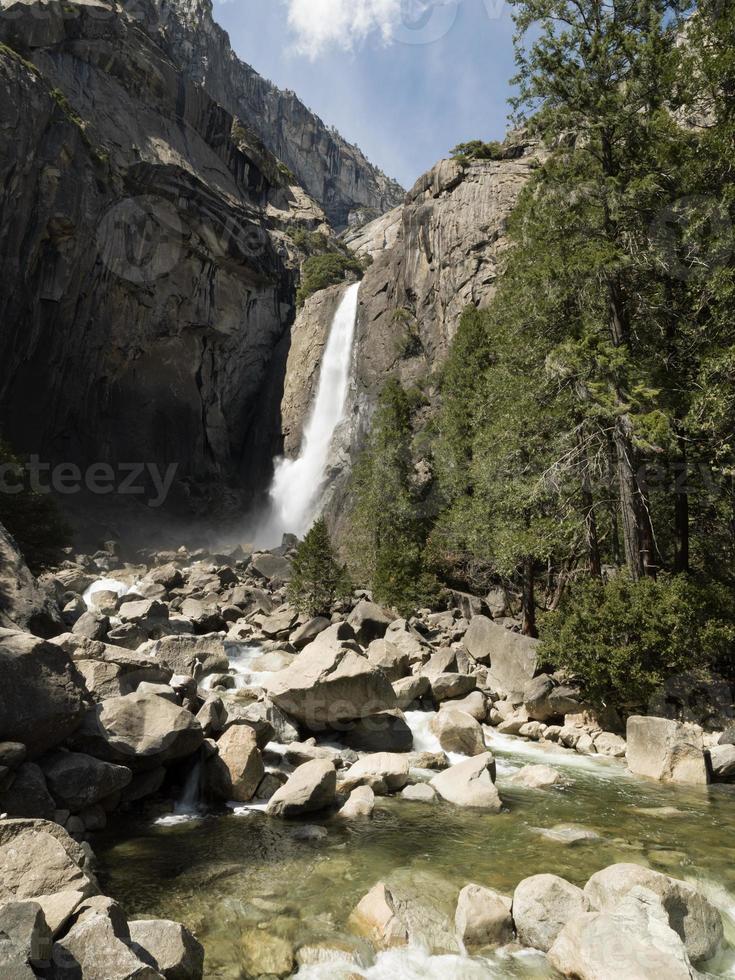 Yosemite National park, whater falls in California photo