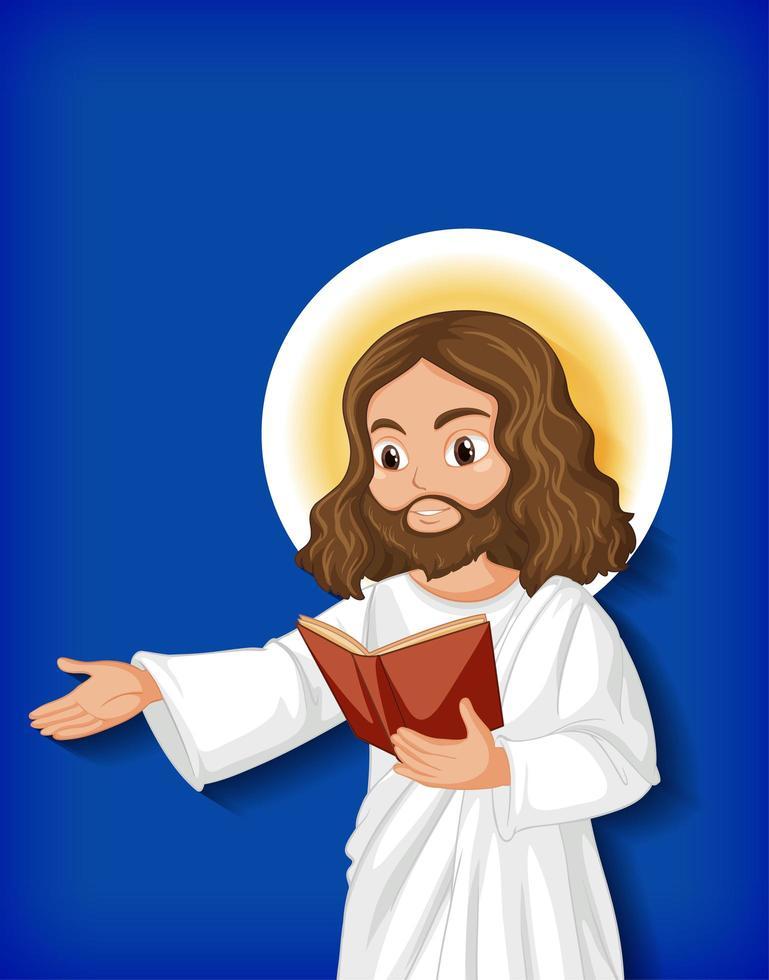 geïsoleerde Jezus stripfiguur vector