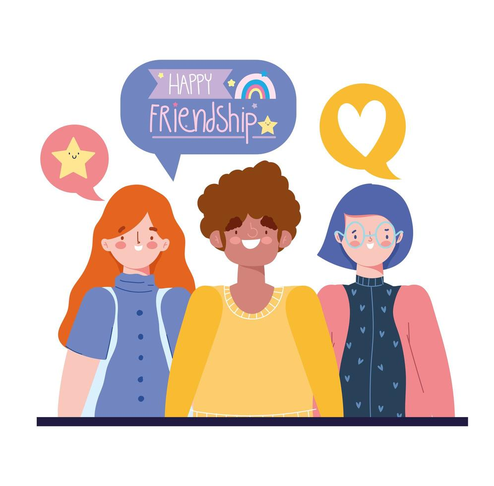 Grupo De Jovenes Celebrando La Amistad Descargar Vectores Gratis Illustrator Graficos Plantillas Diseno