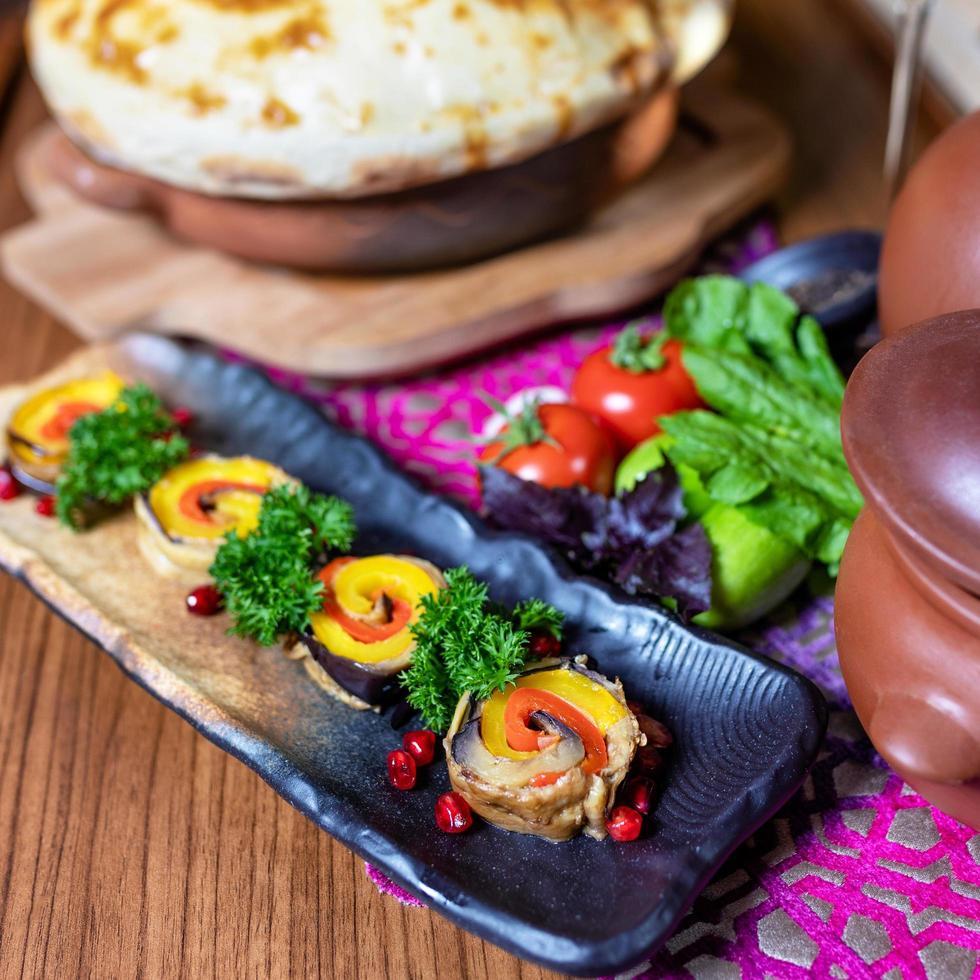 aperitivo de verduras de cerca foto