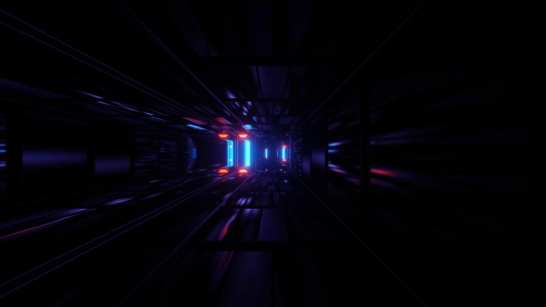 Alternating neon light 3D illustration background photo