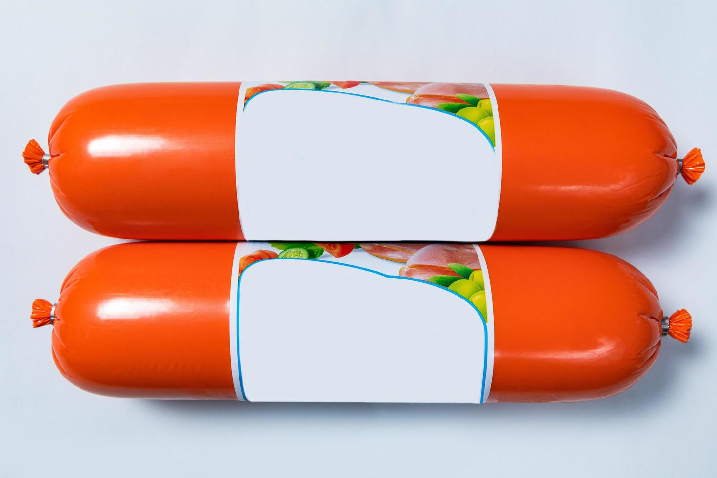 producto de salami de salchicha, listo para la venta foto
