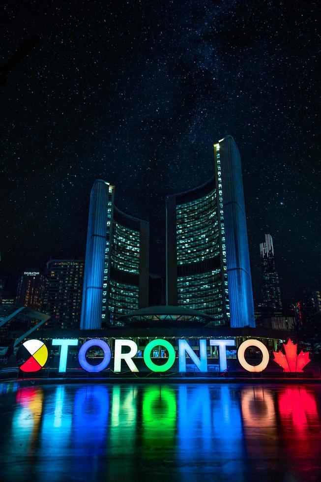 Low angle photo of Nathan Phillips Square