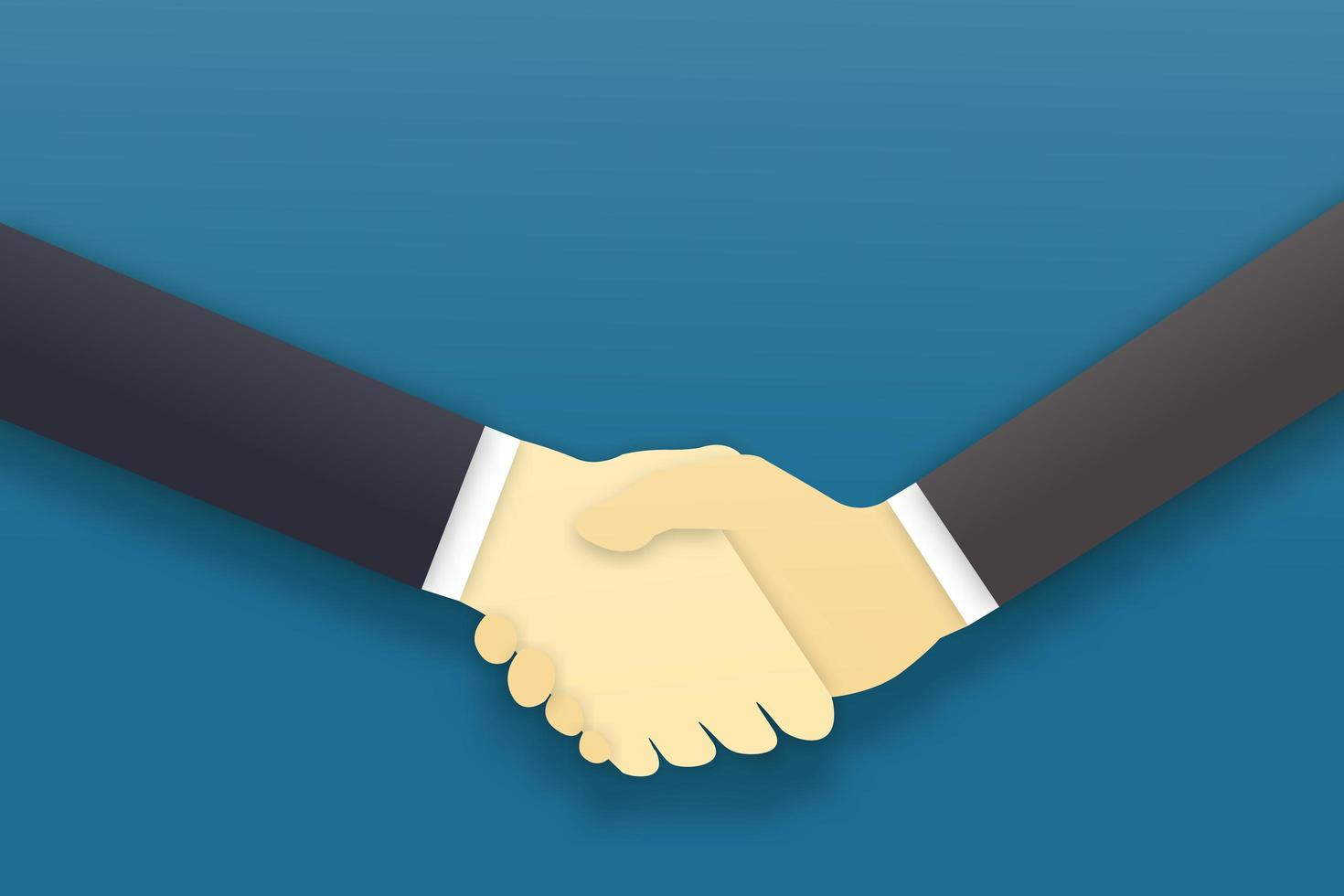 Handshake agreement, business partners concept vector