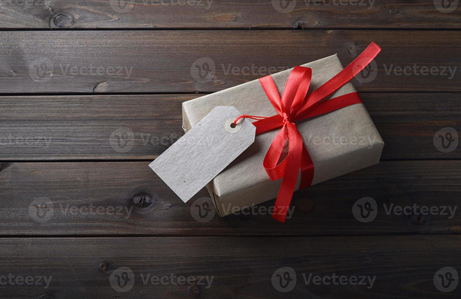 gift box with red ribbon photo
