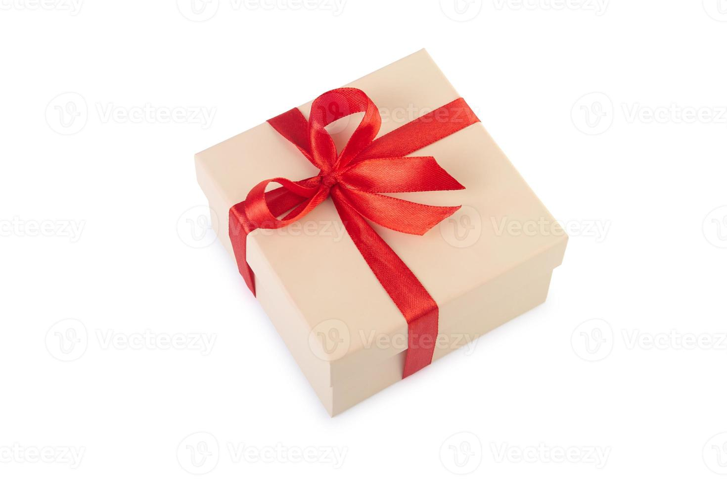 Gift box with clipping path. photo
