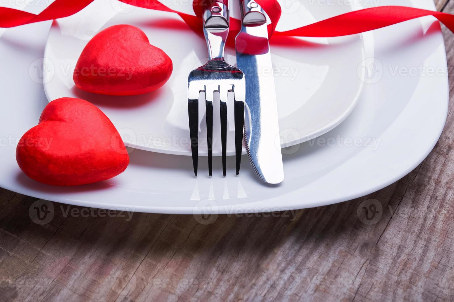 Valentine's day table setting concept. photo