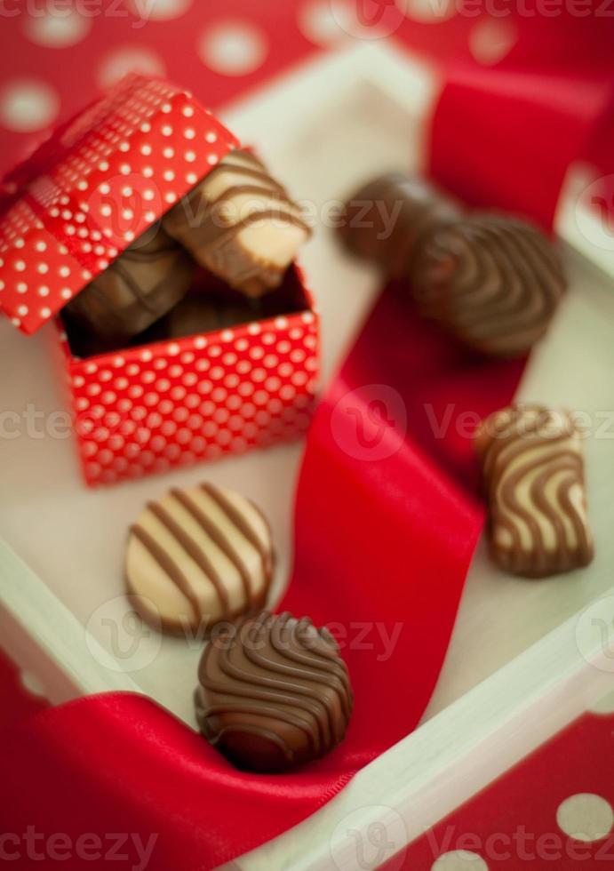 Gift box of the chocolate photo