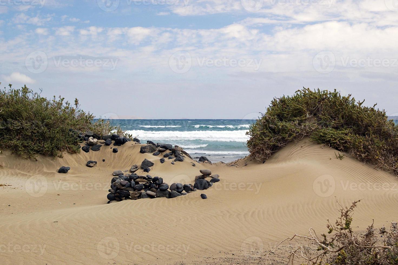 Sandy beach of Lanzarote photo