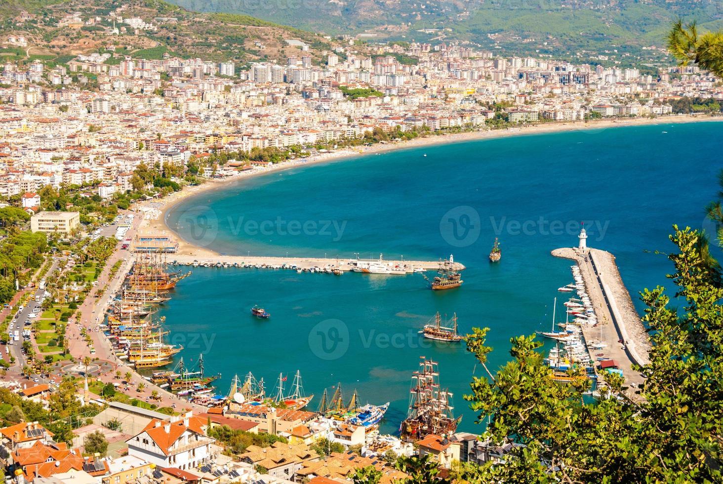 city harbor of Alanya photo