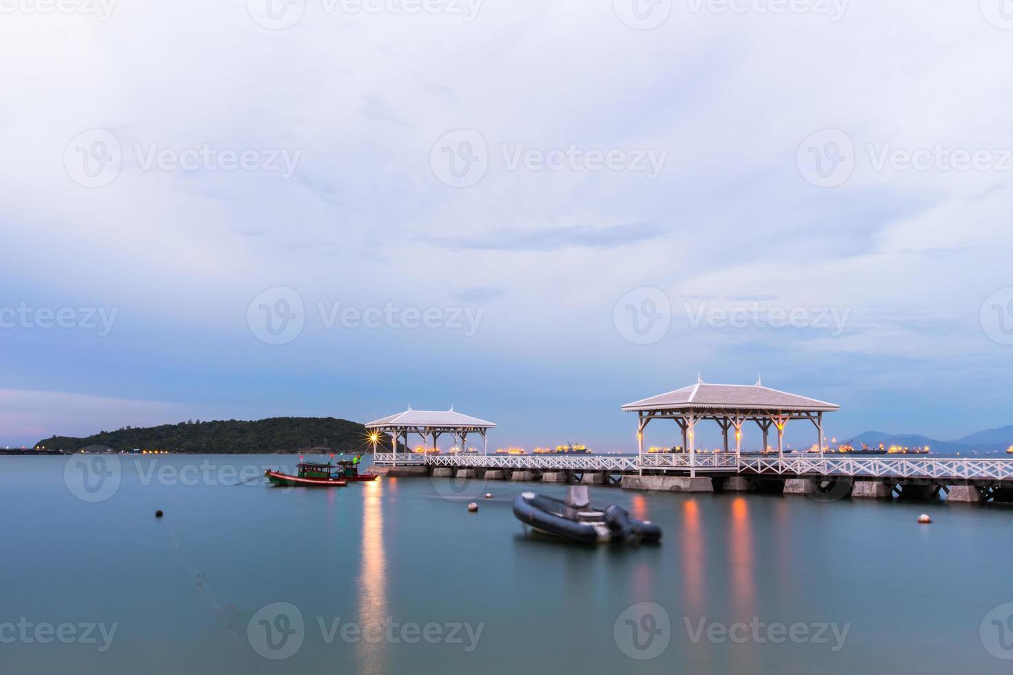 Wooden waterfront pavilion, at Koh si chang island. photo