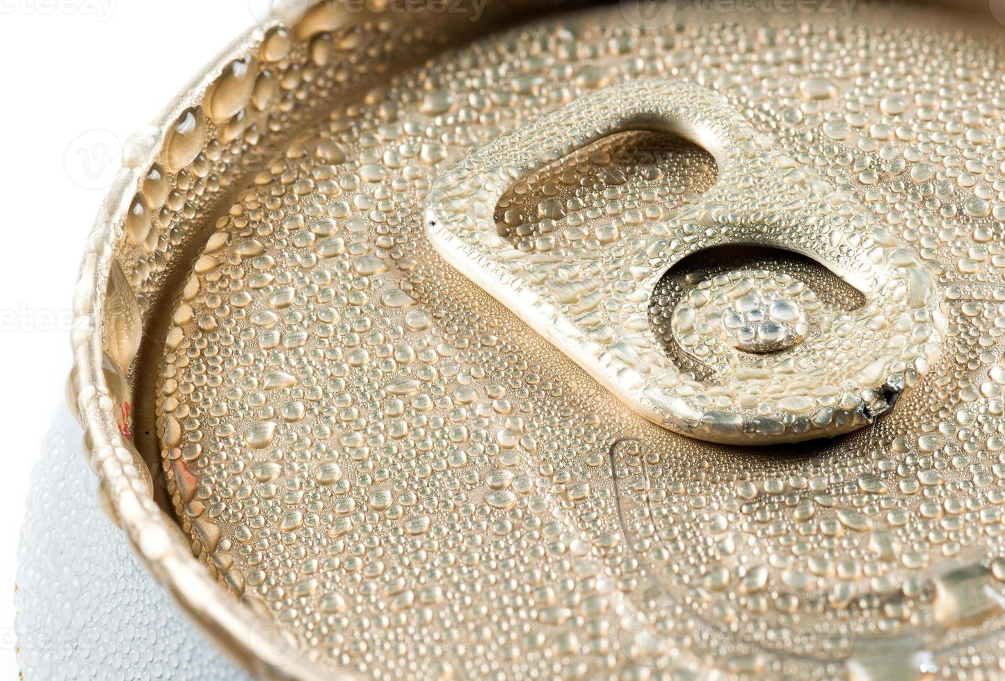 wet aluminum can with drink photo