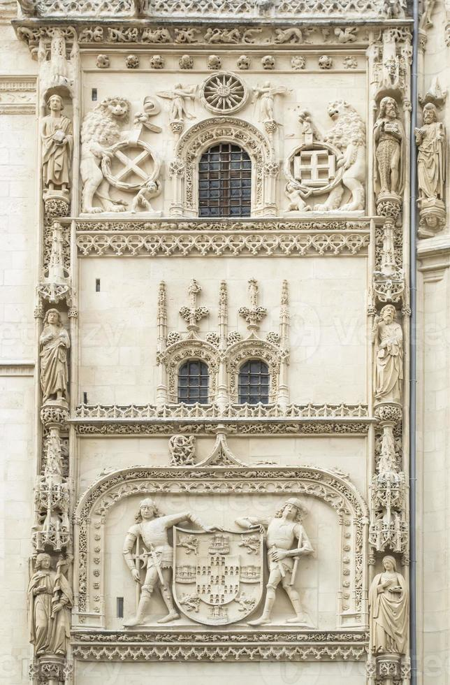 Burgos Cathedral, Condestable Chapel,architectural  detail photo