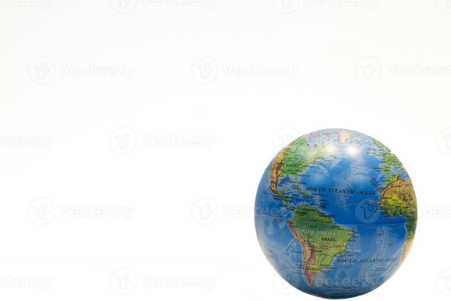 Globe isolated on white photo