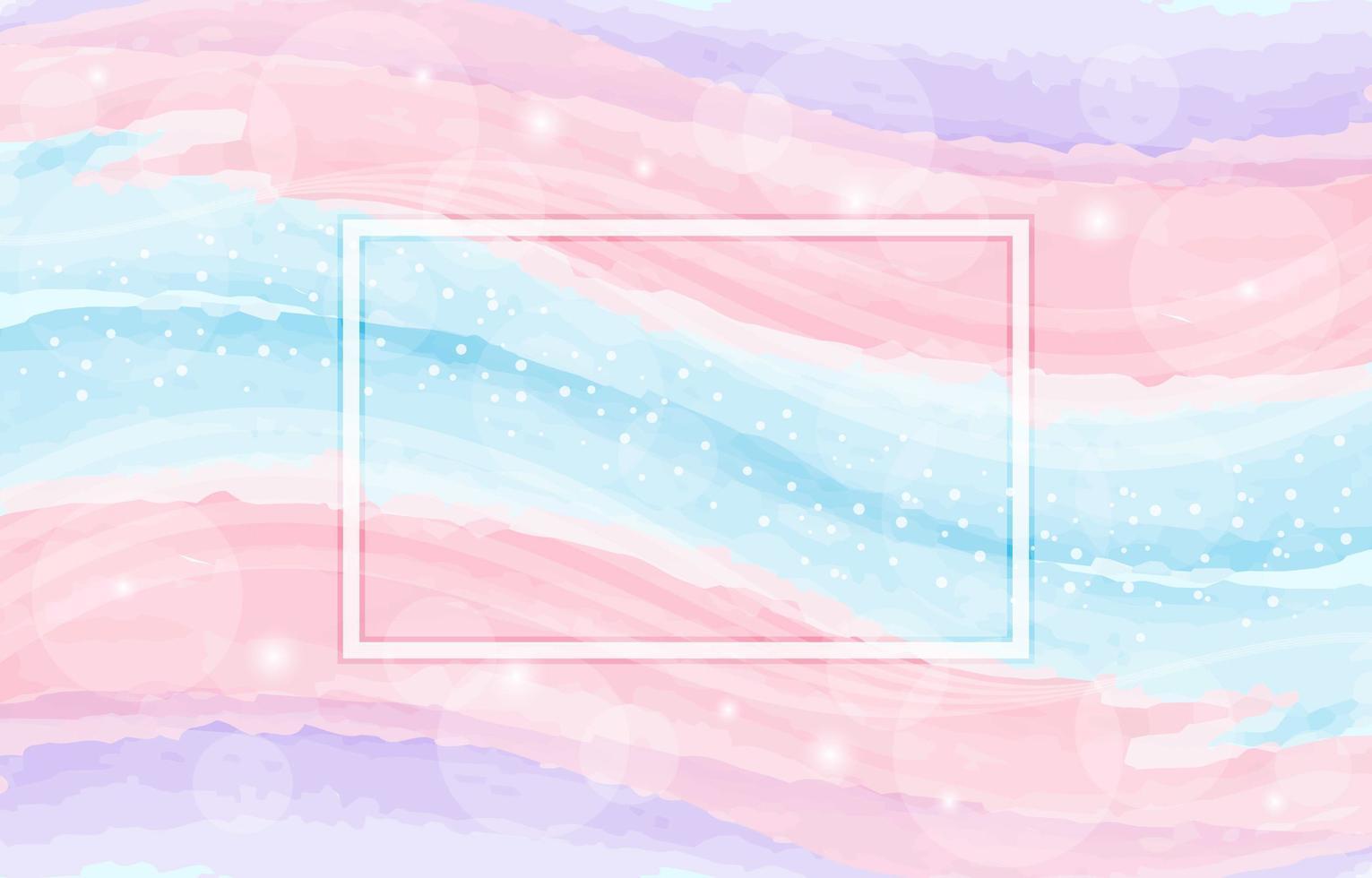 Pastel Watercolour Wave Composition vector