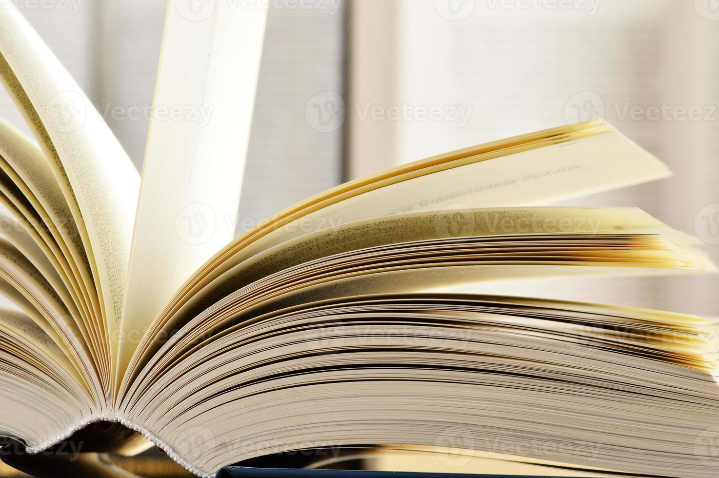 Composition with hardcover books in the library photo