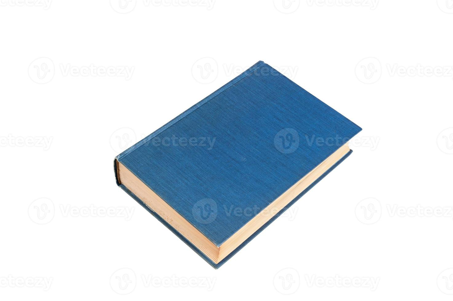 Blue book isolated on white photo