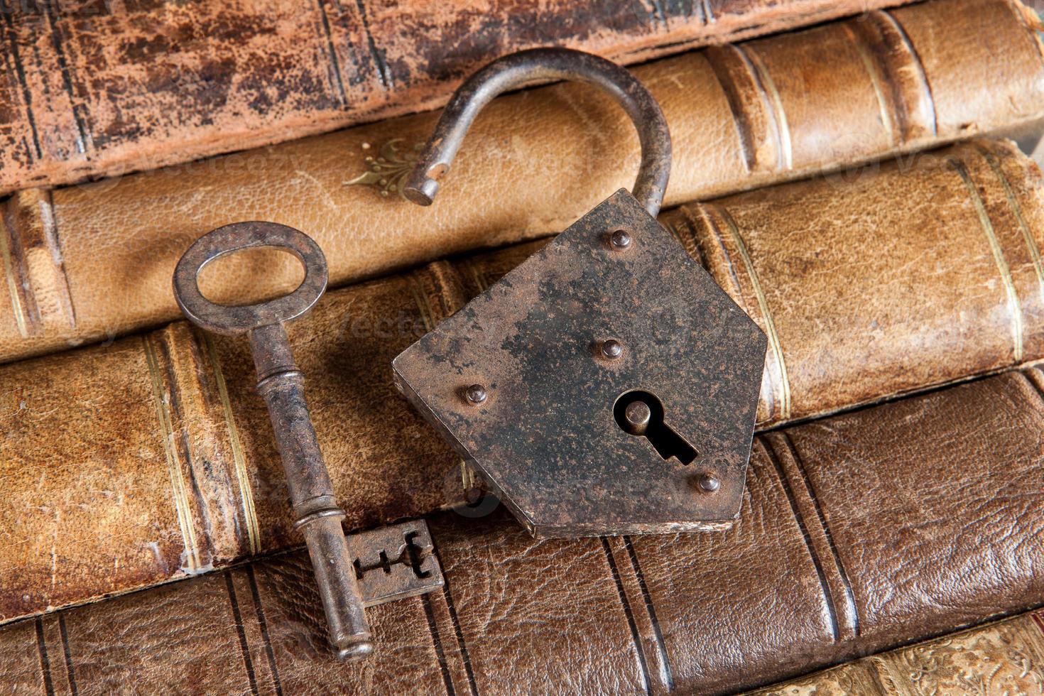Locked books photo