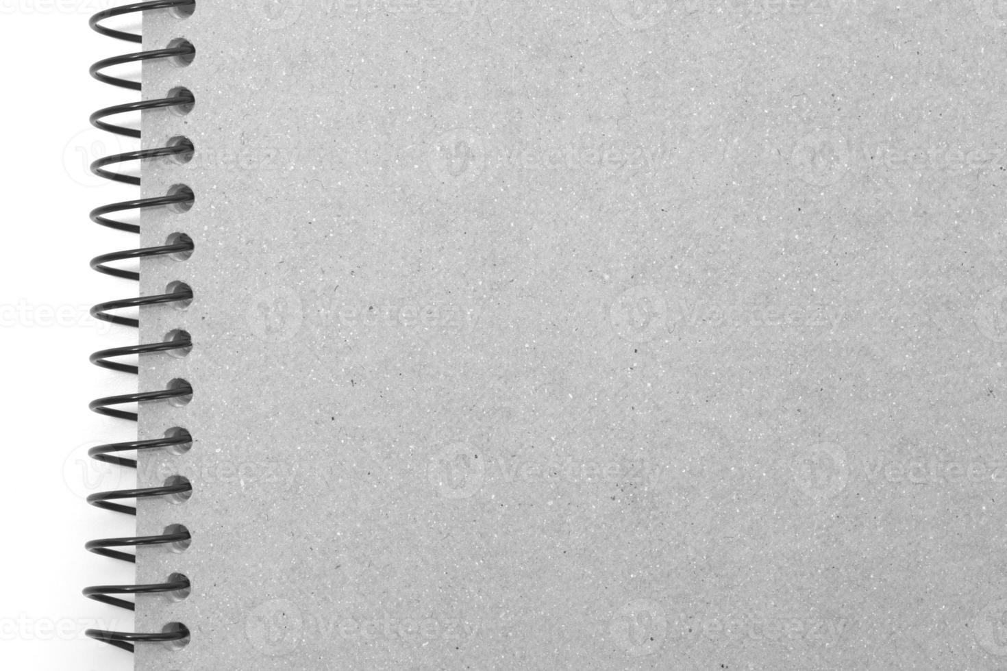 Note book cover isolated on white background photo