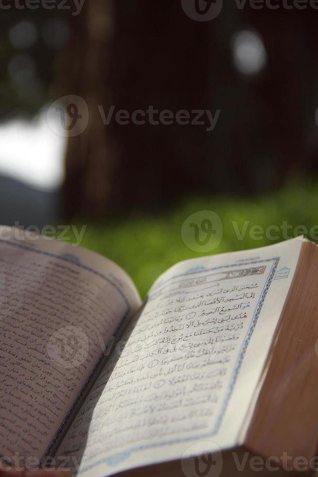 Arabic script opened Book photo