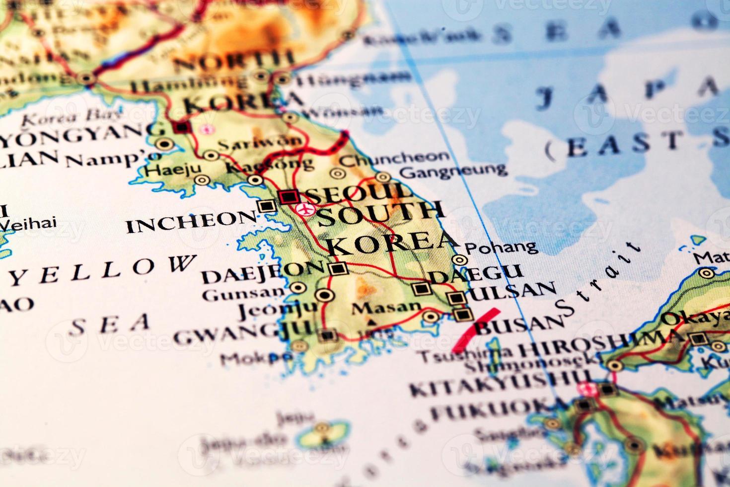 Map  South Korea photo