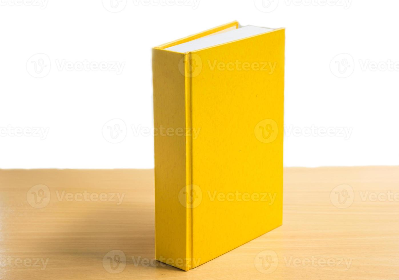 Yellow book  on the table. photo