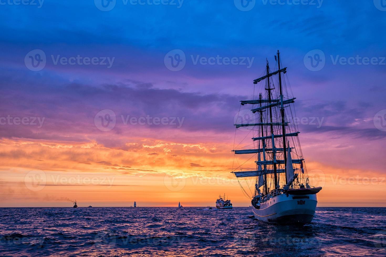 Sailing ships on the Baltic Sea photo
