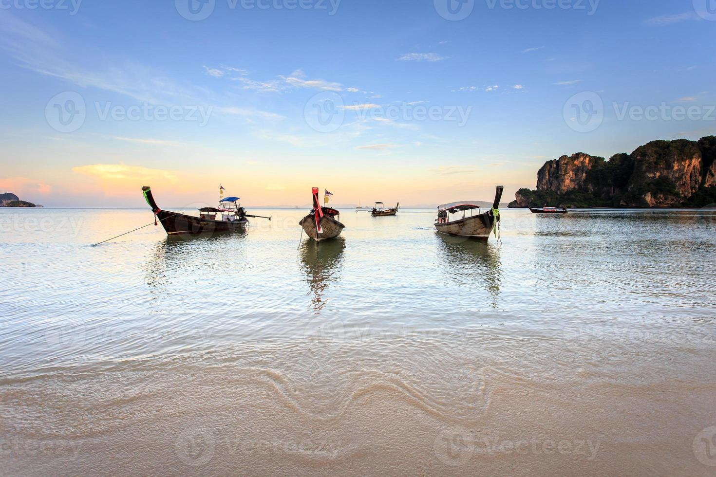 Playa de Railay, Krabi, Mar de Andaman, Tailandia foto