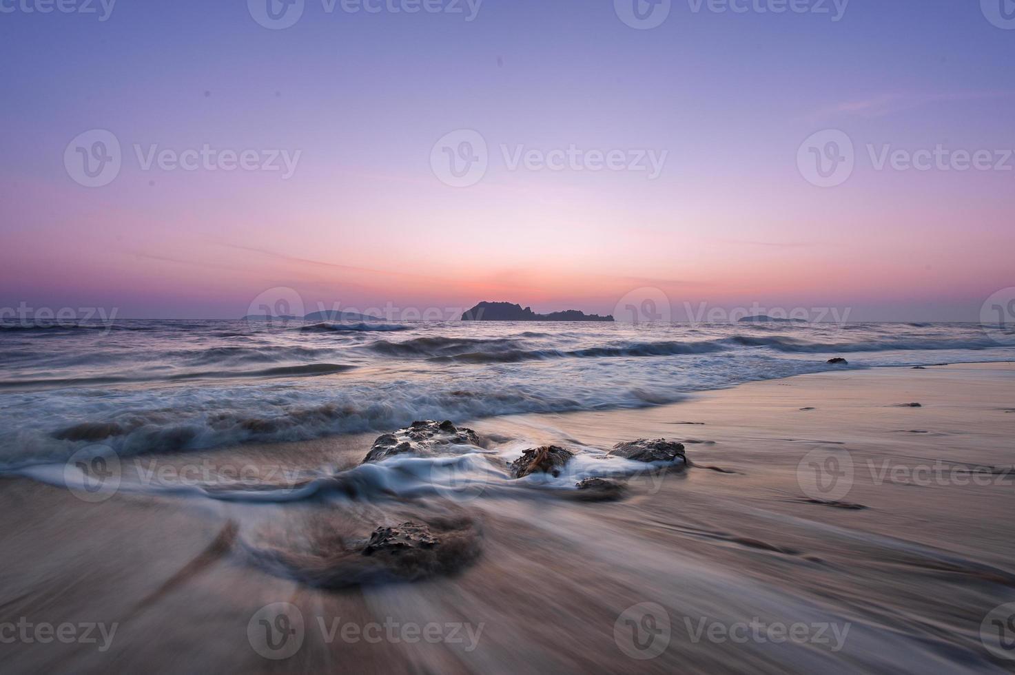 Sea stones and sunset photo