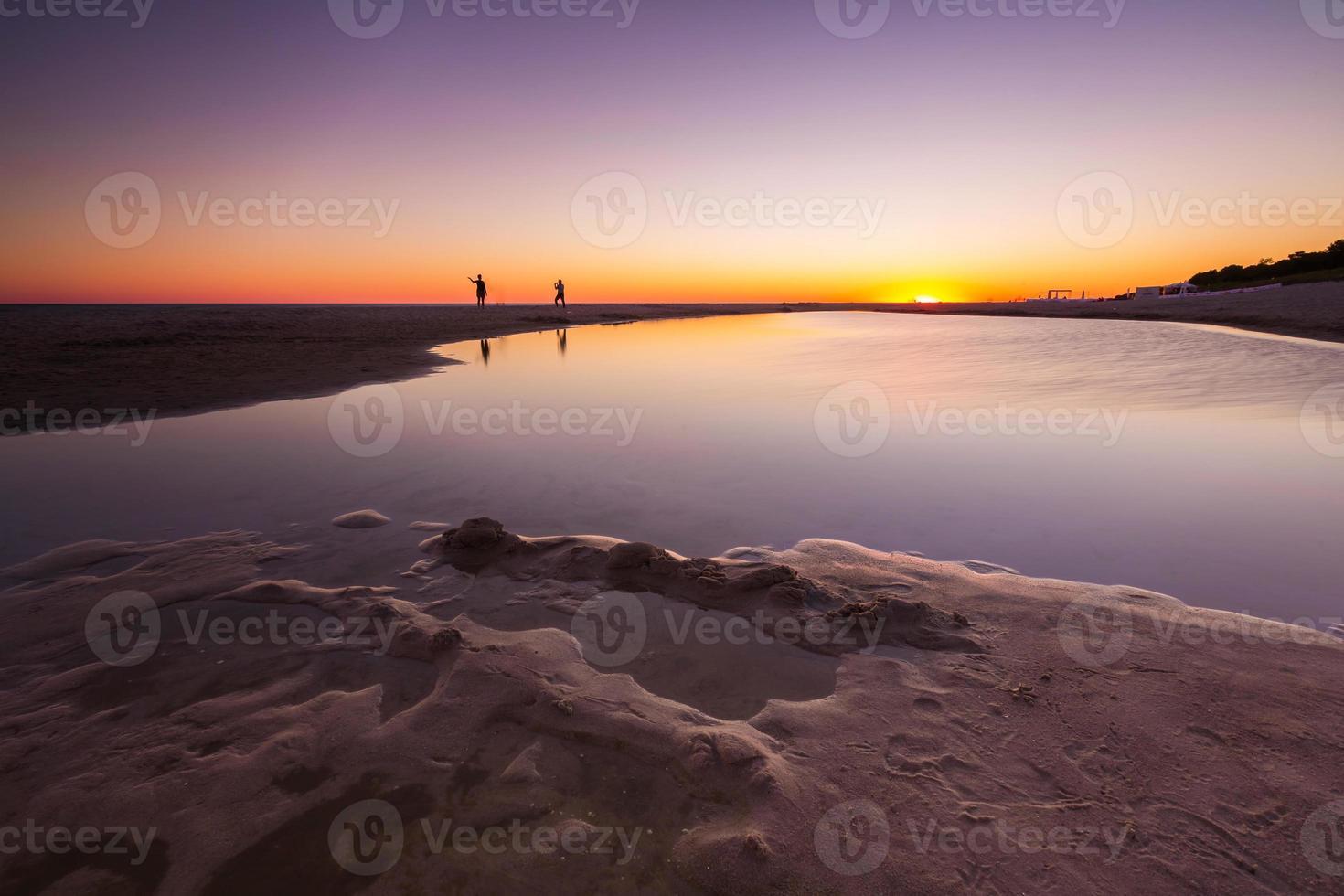 Beautiful sunset over Baltic sea photo