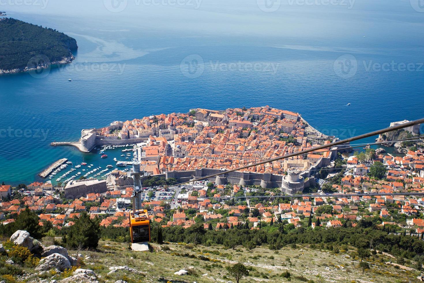 Dubrovnik desde el monte srd foto