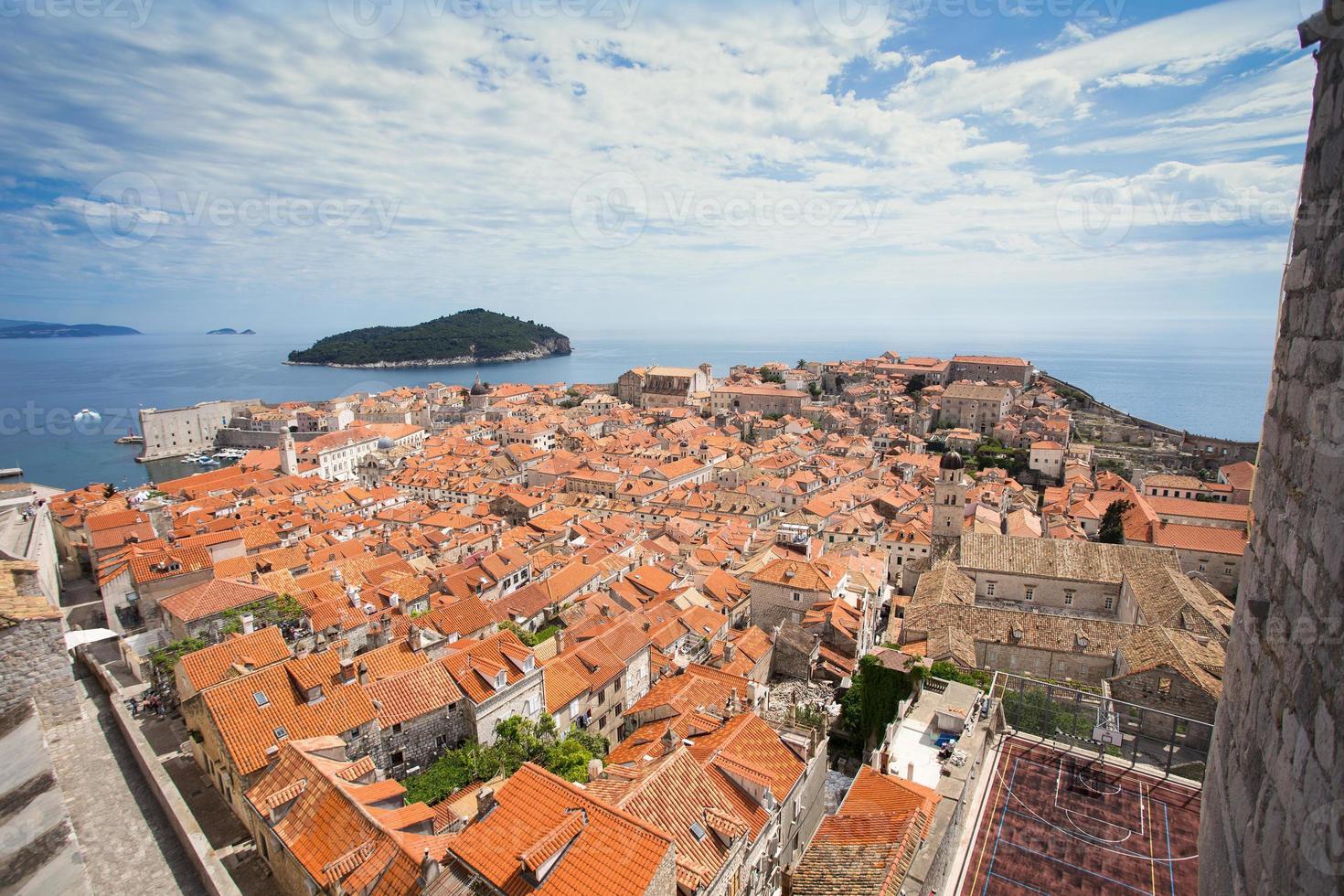 Panorama of Dubrovnik, Croatia photo